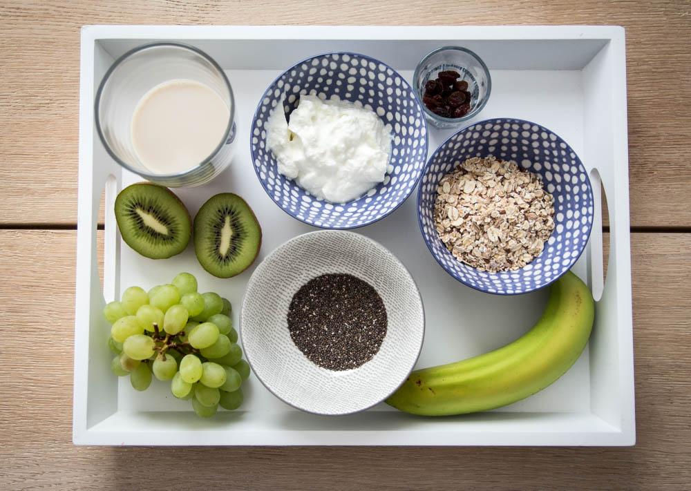 Zutaten Porridge mit grünen Früchten