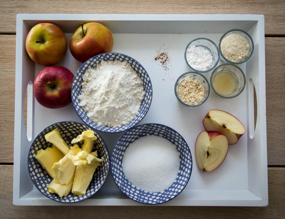 Zutaten Apfelkuchen mit Teigdeckel