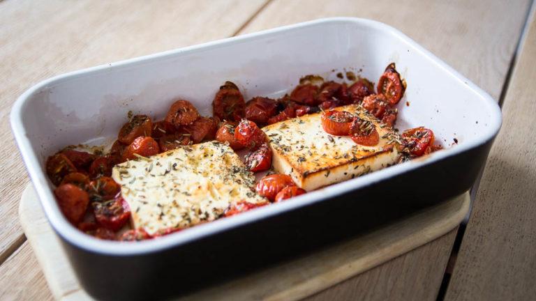 Tomaten Feta Auflauf im Ofen gebacken
