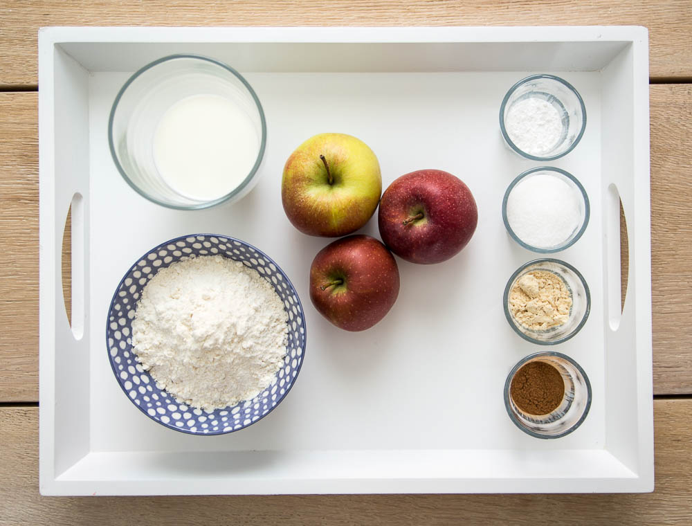 Zutaten Apfelküchlein mit Zimtzucker