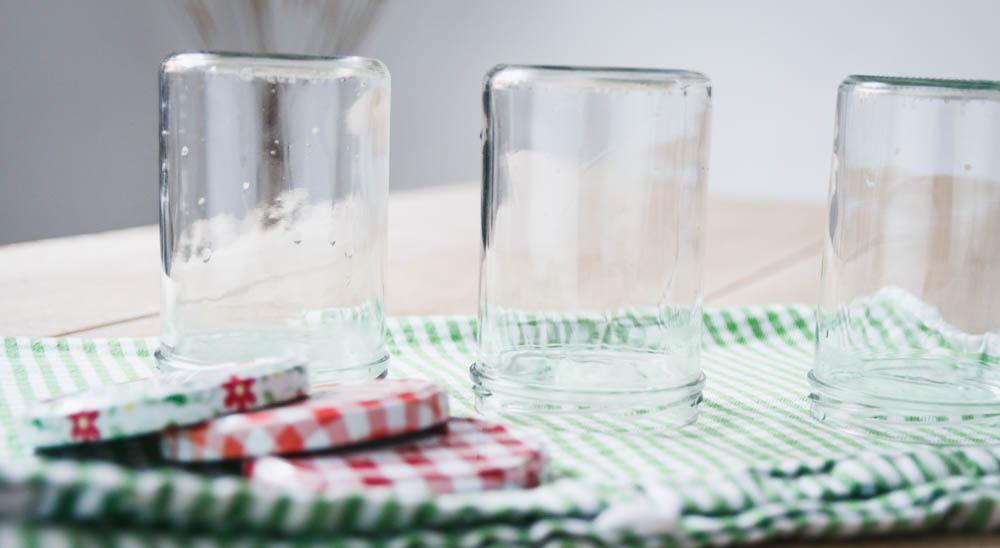 ausgekochte Gläser.