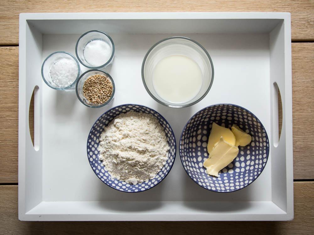 Zutaten für die Kräcker