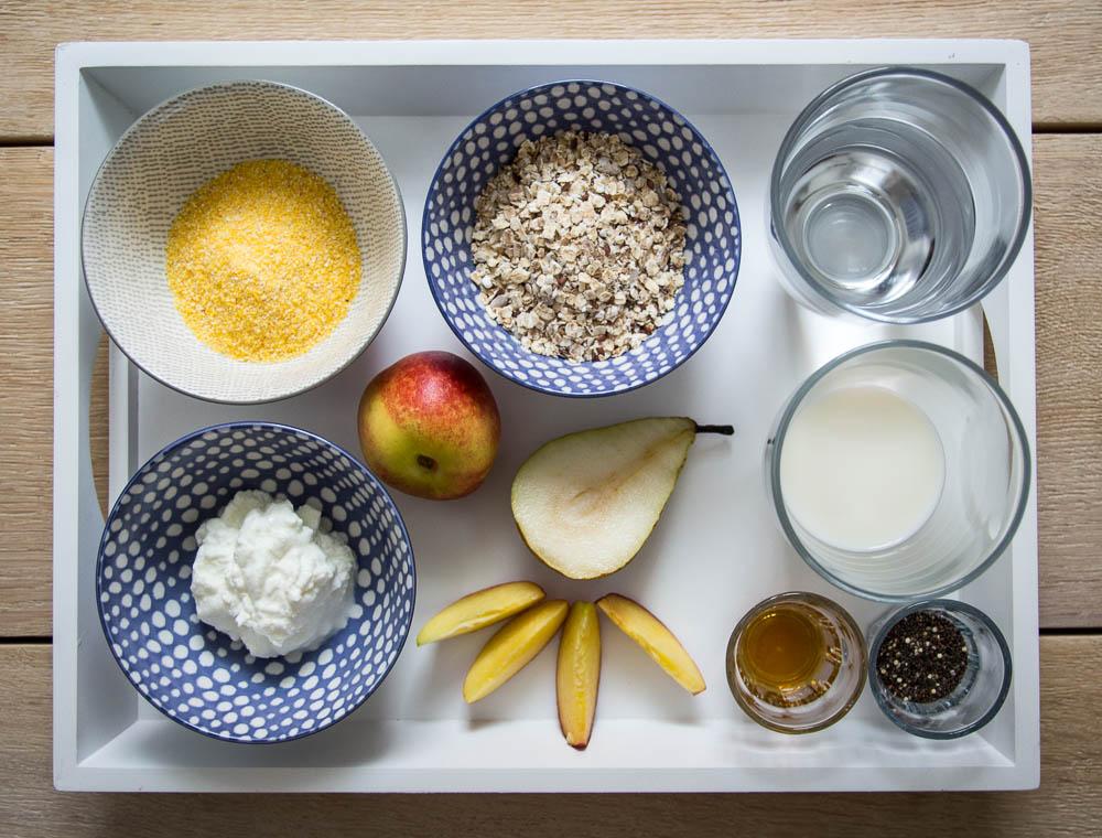 Zutaten Polenta Porridge