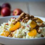 fruchtiger Reissalat mit Buttermilch Dressing