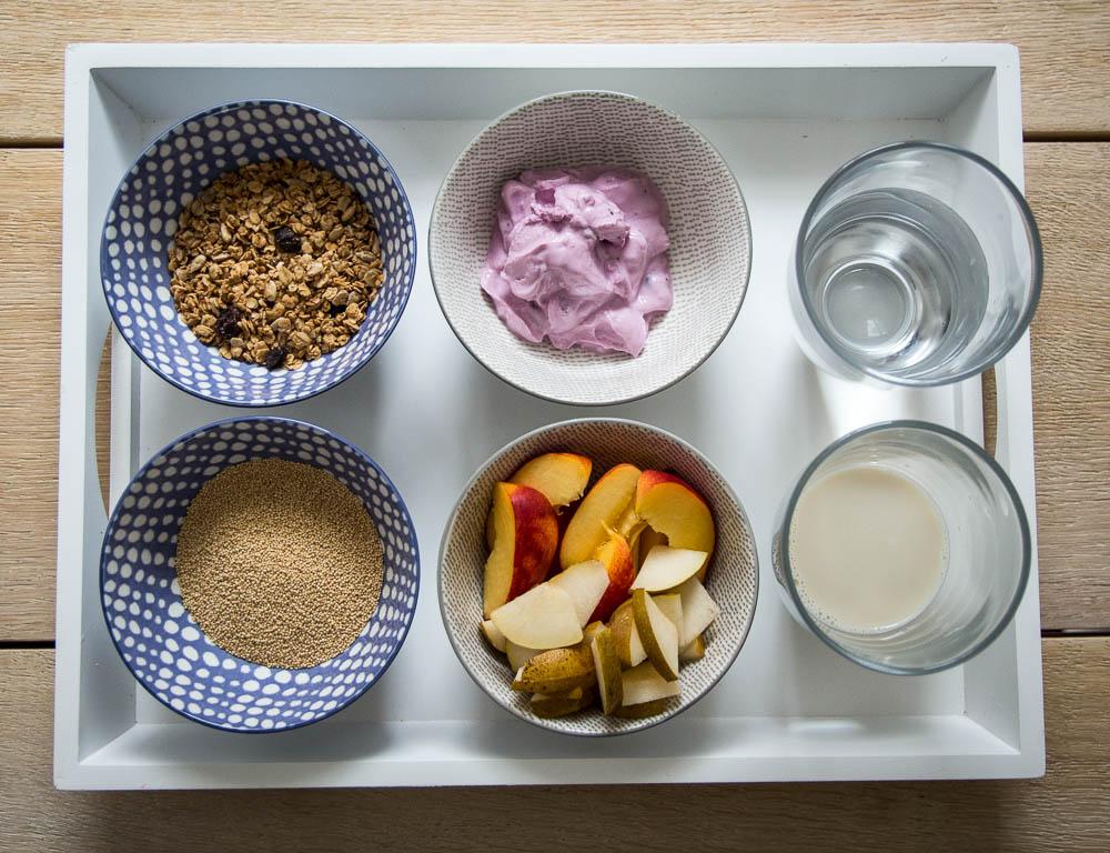 Zutaten für das Amaranth Porridge