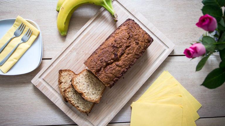 Saftiges Bananenbrot ohne Ei