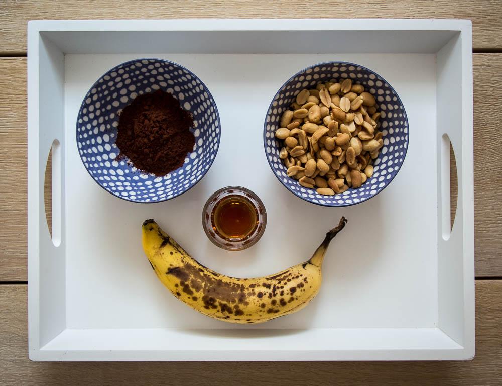 Zutaten für die Bananen Schokocreme