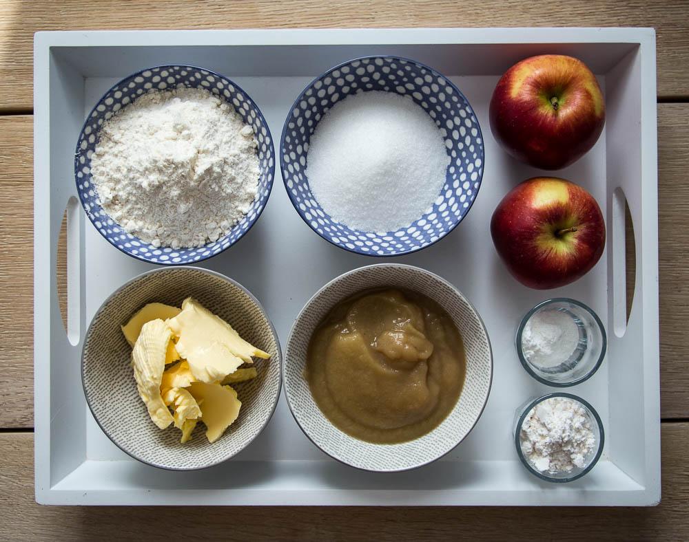 Zutaten für die Einfache Apfeltarte mit Streusel