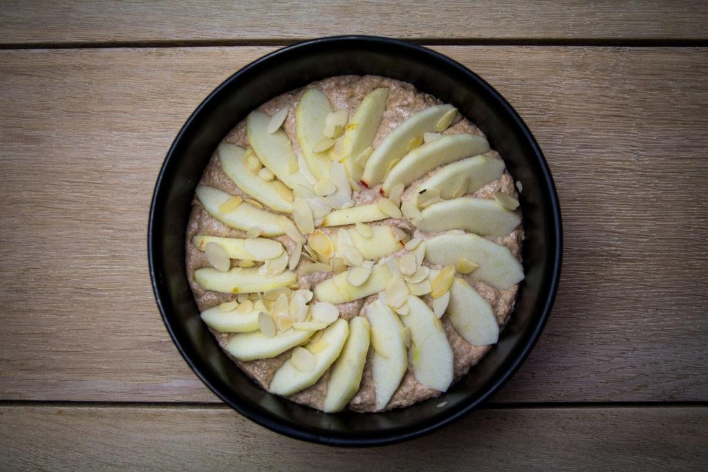 Apfelkuchen basisch und vegan