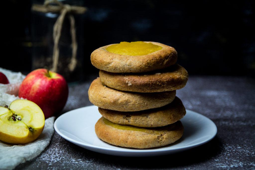 Apfel-Vollkorn-Teilchen