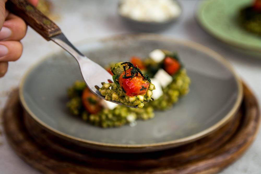 Buchweizen Gemüse mit Pesto