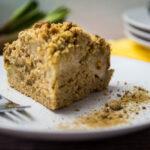 Rhabarberkuchen mit wenig Zucker